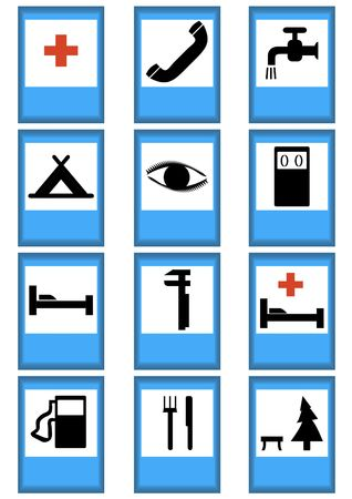 Index traffic signs on a white background photo