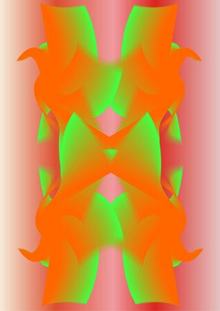 distortion: The variant distortion, multi-colored on a white background.  Stock Photo