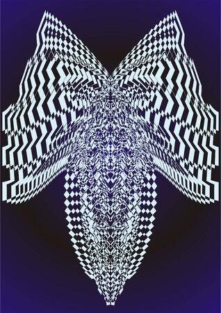 Dibujo en la abstracci�n a la luz de aprendizaje sobre un fondo negro.