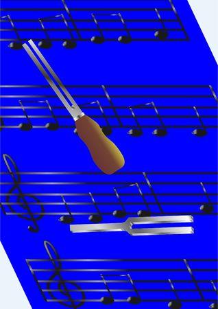 El dispositivo para ajustar el sonido en el fondo de la m�sica.  Foto de archivo
