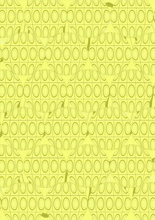 Tracer�a como c�rculos con �valos y formas geom�tricas abstractas sobre un fondo amarillo.