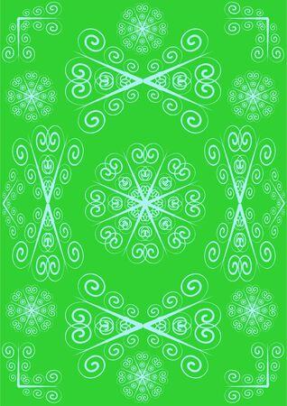 Tracer�a un monograma de la forma diferente, sobre un fondo verde.  Foto de archivo