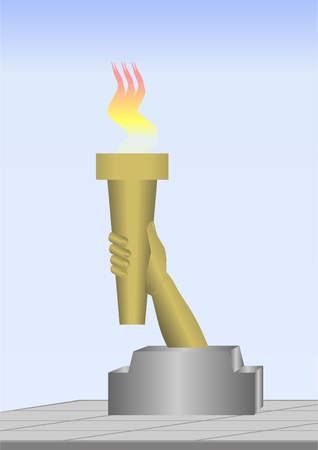 A symbol of memory, always a burning torch against the sky.