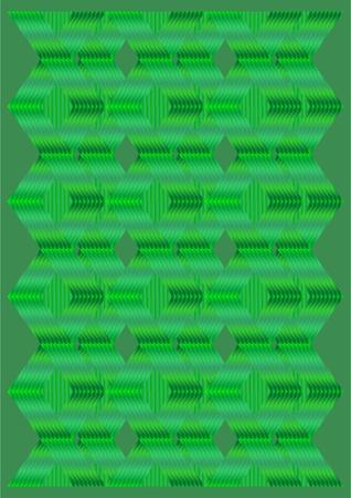 La forma de la placa de enlace sobre un fondo verde.