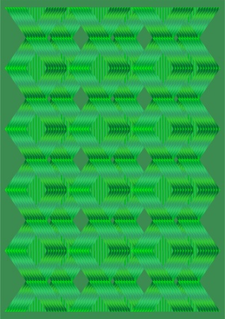 The form of the binding plate on a green background.  Stock Photo