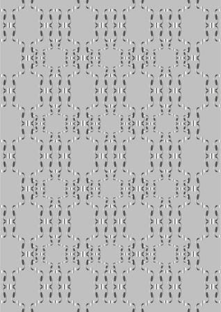 small size: Calado formas diferentes monograma en un fondo gris.