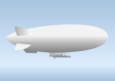 profitability: Aircraft airship, against the blue sky with clouds.