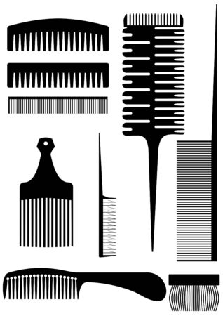 skew: Device for combing hair, wool, on a white background.  Illustration