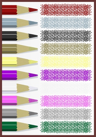 hardness: Part of a colored pencil to retouch on a white background.  Illustration