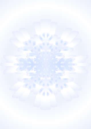 polyhedron: Figura de nieve en la temporada de invierno en el fondo azul-blanco. Vectores