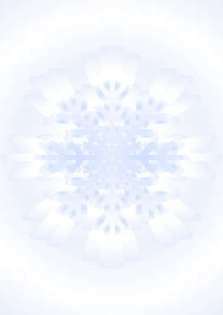 offshoot: Figurine of snowfall in the winter season on the blue-white background.