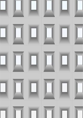 grandeur: Openings for windows in the wall at different angles.