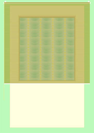 coolness: Adaptation to shade windows on a green background   Illustration