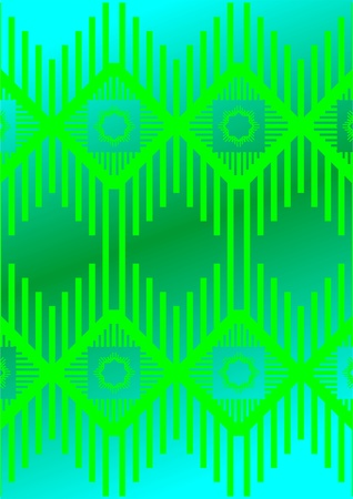 shifted:  Patterns in the form of a wavy line of the abstract, with a shifted copy, on a green background