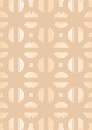 Los patrones en un patr�n decorativo sobre un fondo color beige