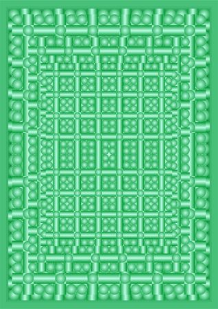 deepening: Several rows of balls and cylinders, to reduce, on a green background  Illustration
