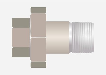 The device connecting the pipeline, such as  American  on a gray background