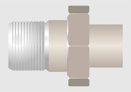 The device connecting the pipeline, such as  American , with an additional thread  Illustration