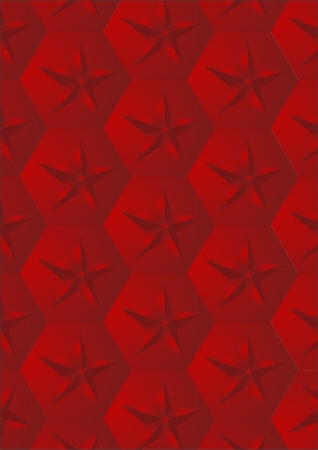 lighting column: Ornament of the red five-pointed stars on a red background   Illustration