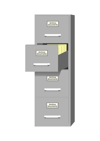 archival: Metal cabinet for storage of archival documents