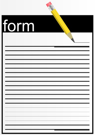 A piece of paper, lined lines with a pencil, on a grayish white   Illustration