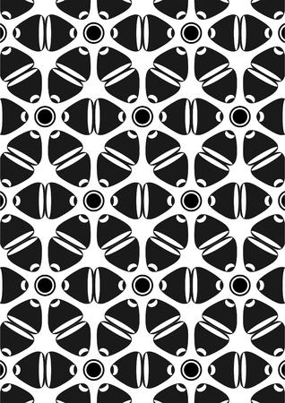 Tracer�a en forma de una l�nea ondulada de abstracta y diferentes figuras geom�tricas en el fondo blanco