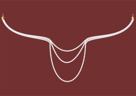durability: Pearl necklace with clasps, on a velvet background