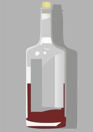 avant garde: The avant-garde bottle of wine, cork and glare