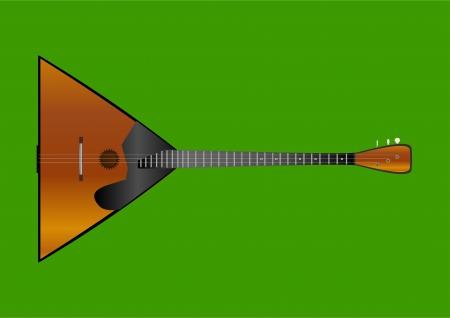 húros: Musical vonós népi hangszer balalajka, a zöld háttér