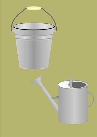 regando el jardin: La agricultura utensilios para la transferencia de agua, el riego de las camas del jard�n