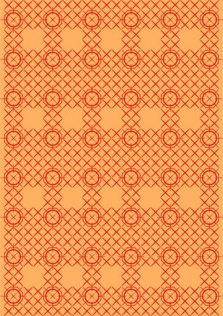 perseverance: Embroidery pattern stitch, red thread, on an orange background  Illustration