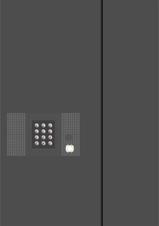 Device for opening and closing the door to the porch