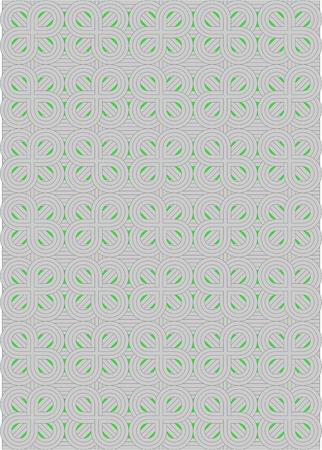 interweaving: Intrecciando Otto programma decorativo, su uno sfondo verde Vettoriali