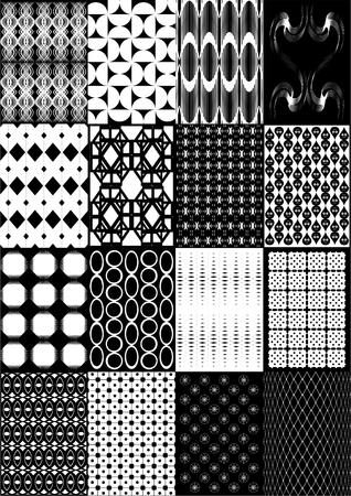 small size: Patr�n de peque�o tama�o, diferente figura, en blanco y negro