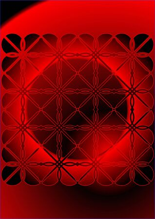 View abstract red dwarf through the grille   Illustration