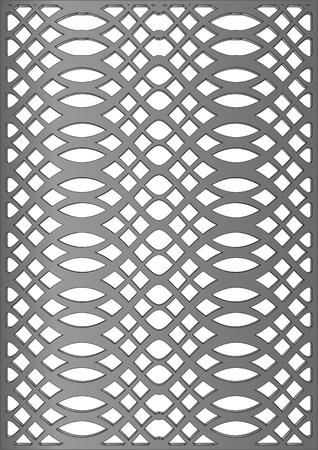 gusseisen: Dekorative Formguss auf einem wei�en Hintergrund Illustration