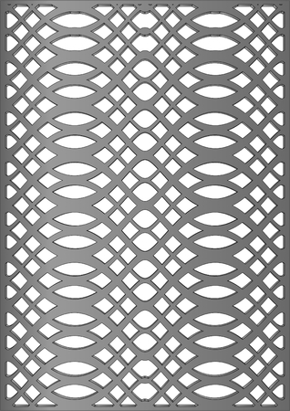 Decorative moulding cast iron on a white background  Illustration