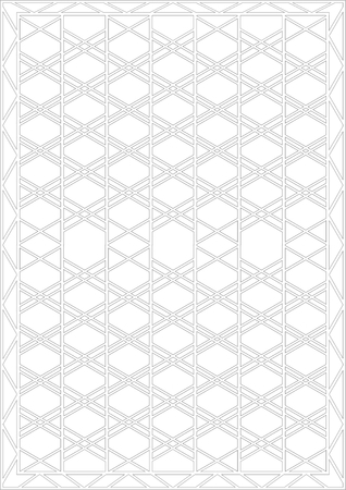 The design of the metal bar on a white background