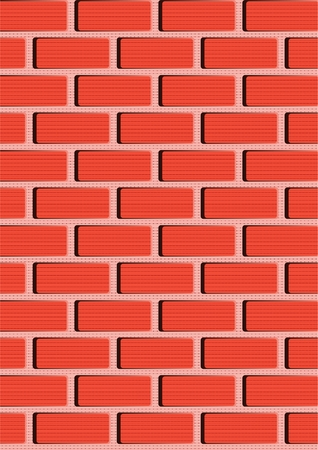 The wall of brick, three-dimensional image on a gray background.