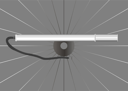 Priming pump tire bicycle, wheel on a background. Illustration