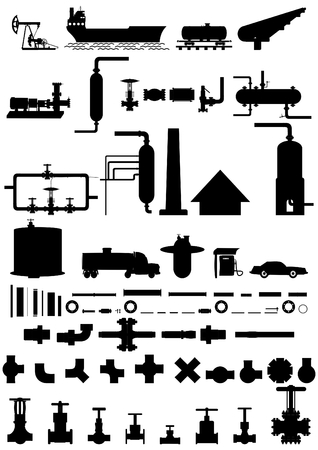 Movement of oil from lifting to car  and related accessories for refining.