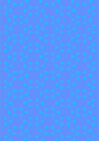 Tracery in a variety of geometric shapes, orbit, oval, randomly distributed, on a blue background. Illustration