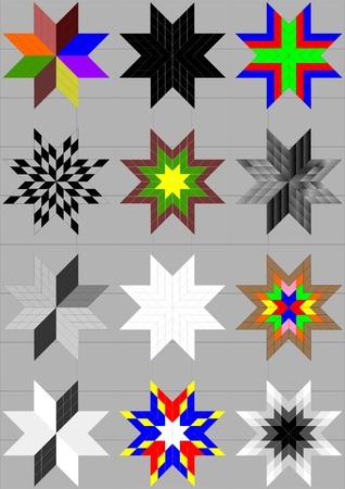 Flatness of a different color, with a pattern, different angles, on a gray background.