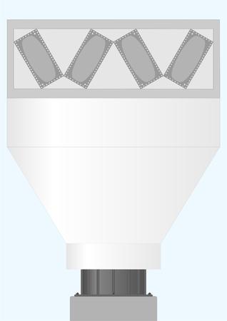 condensacion: Dispositivo para el enfriamiento y la condensación de los gases calientes contra el cielo.