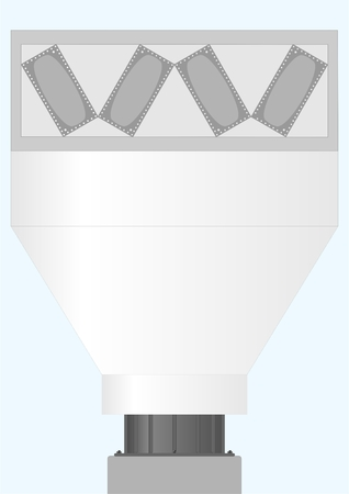 Device for cooling and condensation of hot gases against the sky. Illustration