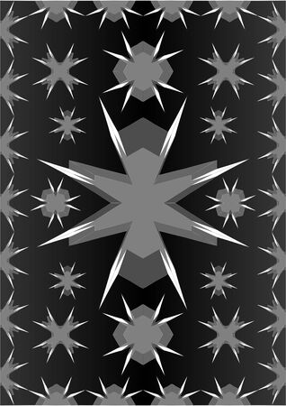 Types of different figures with elongated sharp sides, on a black background.