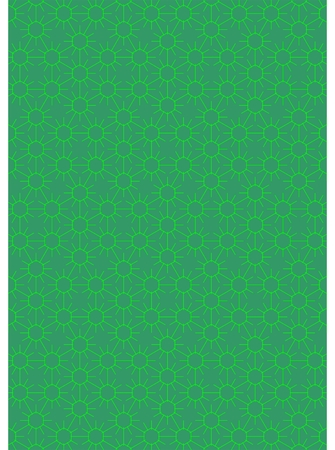 Green hexagon with lines in different directions, the green background. Illustration