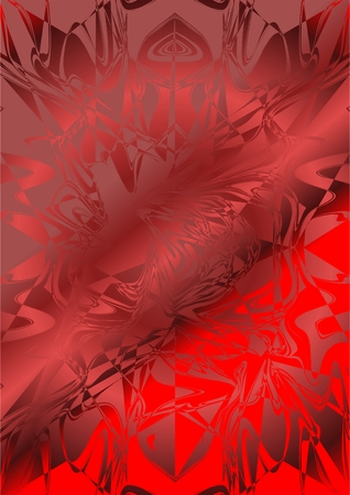Fabric of red satin, in a chaotic form, with different shades.