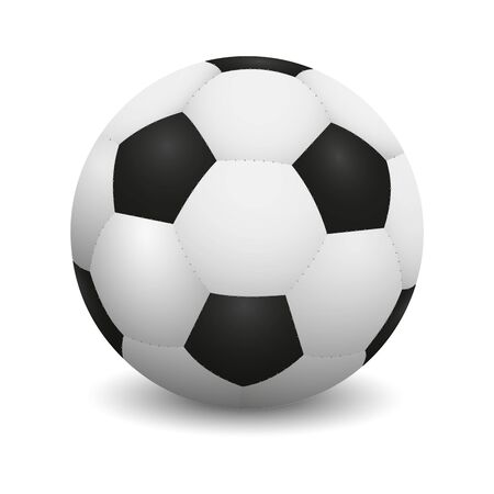 Realistic soccer ball or football ball on white background. Stok Fotoğraf - 132035805