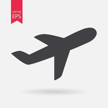 passenger airline: Airplane Icon. Illustration